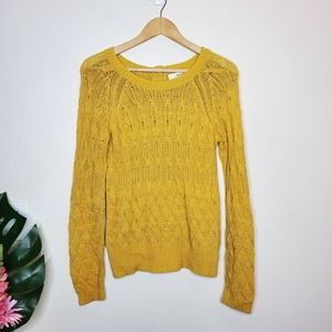 Sparrow Anthropologie Cable Fuse Pullover Sweater